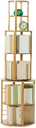 BinZhi 本棚、360度回転する創造的な本棚、シンプルなマルチレベルのフロア本棚、現代的な研究の純木の小さな本棚、収納および収納ディスプレイスタンド Furniture decoration