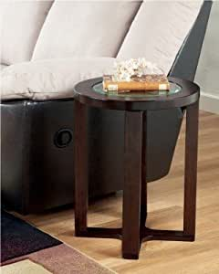Signature Design by Ashley Marion Round End Table, Dark Brown