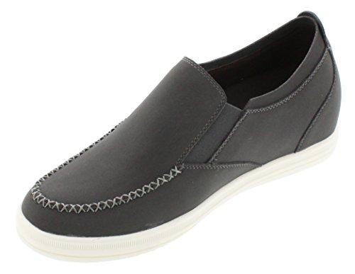 calto–g65181–6,6cm Grande Taille–Hauteur Augmenter Chaussures ascenseur–Gris clair léger