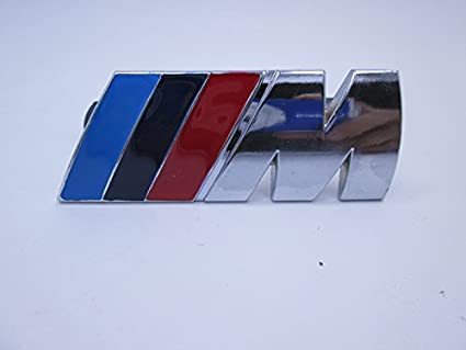 Metal Chrome Badge///M M Power Car Front Grille emblem For BMW M M3