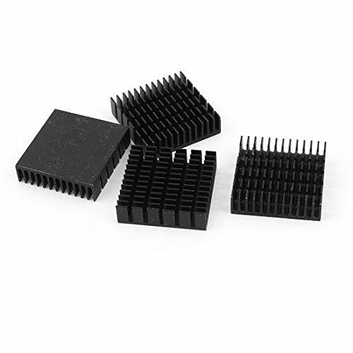 uxcell-4-pieces-black-aluminum-heat-sink-cooling-fin-cooler-40mmx40mmx11mm