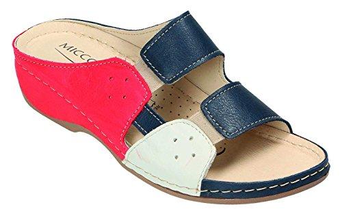 MICCOS Shoes Clogs, Pantoletten D.Pantolette blau/komb.