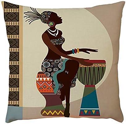 serliy Funda de cojín diseño de Pintura Mexicana, para sofá ...