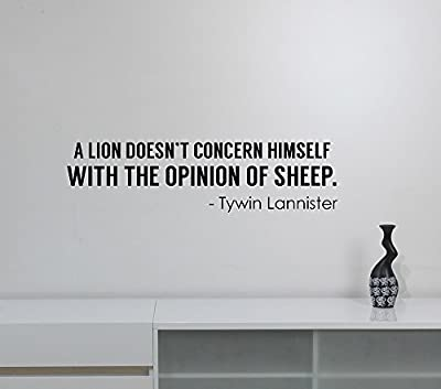 Lion Opinion of Sheep Tywin Lannister Quote Vinyl Decal Game of Thrones Wall Sticker TV Serial Movie Saying Words Art Dark Fantasy Decorations for Home Dorm Room Bedroom Decor gt5