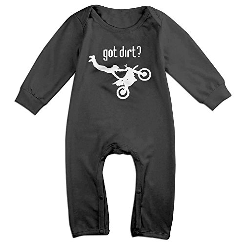 NEWBABY Got Dirt Bike Motocross Racing Baby Rompers for 6-24m Baby
