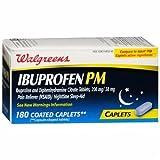 Walgreens Ibuprofen PM, Caplets, 180 ea