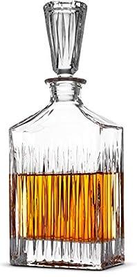Striped Whiskey Decanter Set