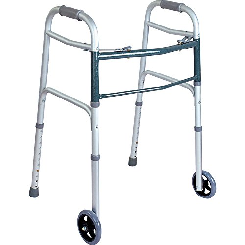 BodyMed Walker, 2-Button, Folding Walker for Seniors and Support After Surgery or Injury by BodyMed