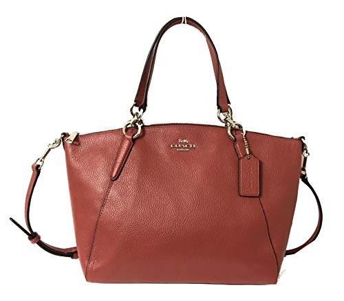 Coach Leather Small Kelsey Cross Body Bag (Small, SV/Washed Red)