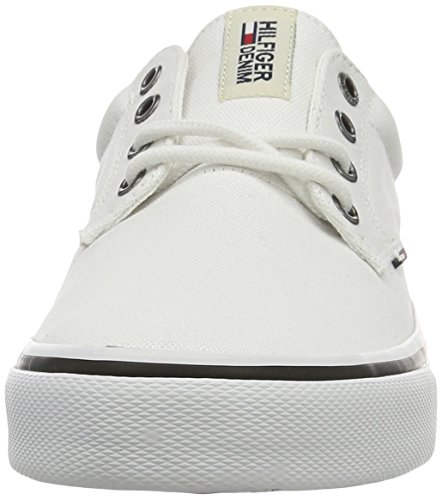 100 white Homme Sneakers Hilfiger Blanc 1d V2385ic Basses Tommy zBHU7
