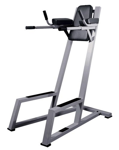 York Barbell Vertical Knee Raise with Dip Station - Silver by York Barbell