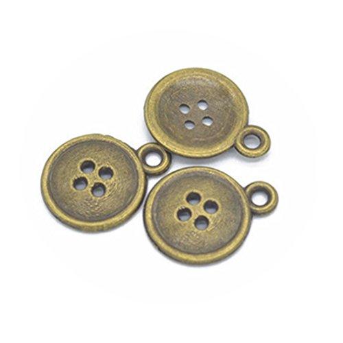 Antique Button Necklace - 9