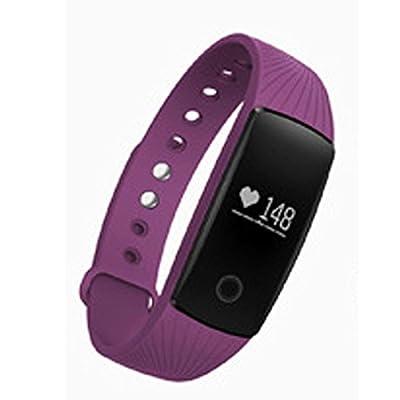 iMusi Smart sports watch bracelet with heart rate monitor Fitness Sleep Tracker Bluetooth, Purple
