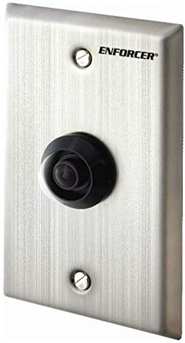 (Seco-Larm EV-5105-N1SQ Vandal Resistant Indoor/Outdoor Wide Angle Wall-Plate Camera, 2.3mm Lens, 1/3