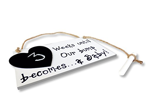 Baby Announcement Chalkboard – New Baby Photo Prop – Baby Shower and Nursery Decorations