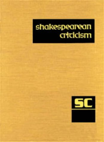Read Online SC Volume 63 Shakespearean Criticism (Shakespearean Criticism (Gale Res)) PDF