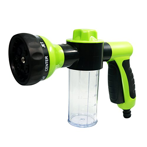 King Company High-Pressure Spray Snow Foam Water Gun Car Wash Clean Pipe Washer 6m (Green&Black)