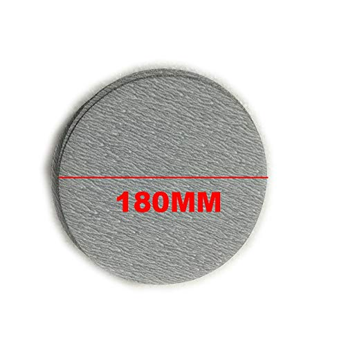 Maslin 100Pcs 180mm 7'' 60-1000 Grit Sander Discs Sanding Disk Polish Pads Sandpapers Plate Adhesive Loop Backing For Cleaning Polishing - (Grit: 400) by Maslin (Image #2)