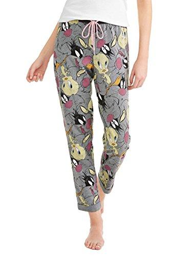 Looney Tunes Women's Tweety & Sylvester Mashup Pajama Pants (Medium ()