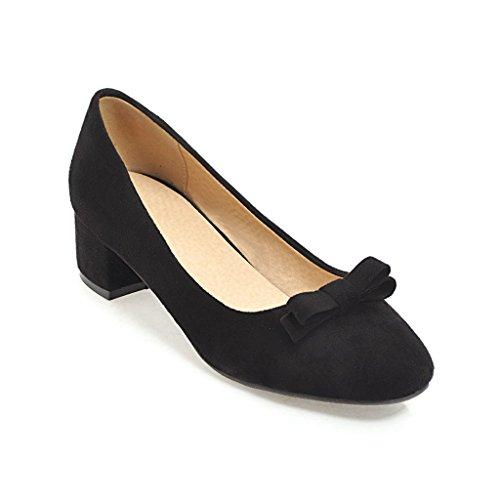 En el cómodo y en negrita con un cuadrado de pajarita, a la luz de los singles femeninos zapatos black