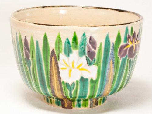 Kenzan copy iris cup by Hana Gwangsan kiln