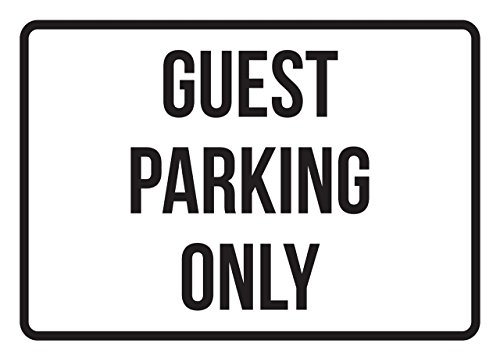 Guest Parking Only Business Safety Traffic Signs Black - 7.5x10.5 - Plastic by iCandy Products Inc