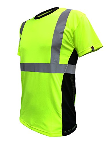 SafetyShirtz SS360 ANSI Class 2 Safety Tee Yellow (Safety Green) w/ Vented Sides (Class Yellow T-shirt)