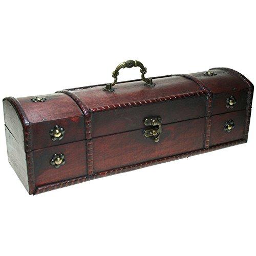 CHRISTIAN GAR Caja de Madera Decorada para Botella de Vino - Caja para Regalo/Decoración (34,5 x 9 x 10 cm) 9550-23: Amazon.es: Hogar