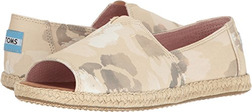 - TOMS Women's Alpargata Open Toe, Natural Watercolor Floral, 5 B-Medium