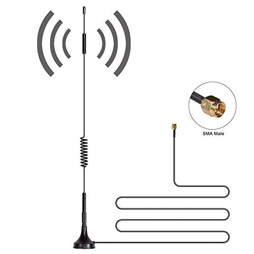DishyKooker 700MHz-2700MHz Wide Band 2.4GHz 12dBi High Gain Omni-Directional SMA Male Antenna WCDMA 4G LTE GSM Magnentic Antenna