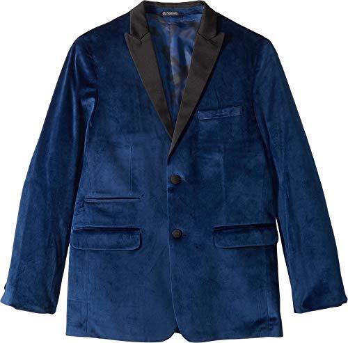 Calvin Klein Big Boys' Velvet Blazer Jacket, Flag Blue, -