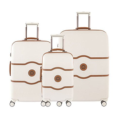 Delsey Paris Luggage Chatelet Hard+ 3 Piece Set Spinner (Champagne)