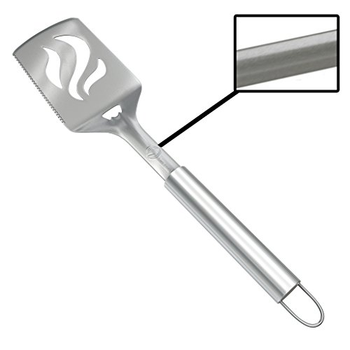 - Barbecue Spatula With Bottle Opener - HEAVY DUTY 20% THICKER STAINLESS STEEL - Wide Metal Grilling Turner for Burgers Steak & Fish - Large BBQ Grill Handle - Best Cooking Utensils & Accessories