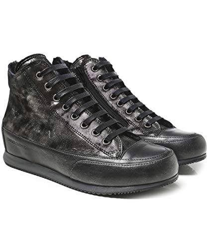 Cooper Black High Lined Women's Top Monet Shearling Black Trainers Candice SwZgOdqxS