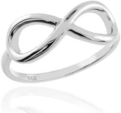 925 Sterling Silver Polished Infinity Ring