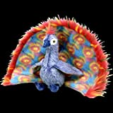 Ty Beanie Baby Plush ( Peacock / Flashy )