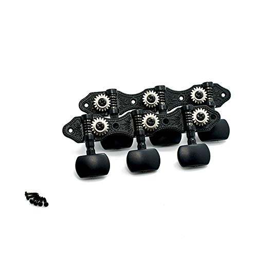 Classical Guitar Tuners,Tuning Key Pegs/Machine Heads for Classical Guitar or Flamenco Guitar with Black Plate Finish