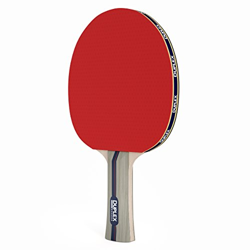 Buy Discount Duplex | 4 Star Ping Pong Paddle - Table Tennis Blade with Rubber - Beginner through Ex...
