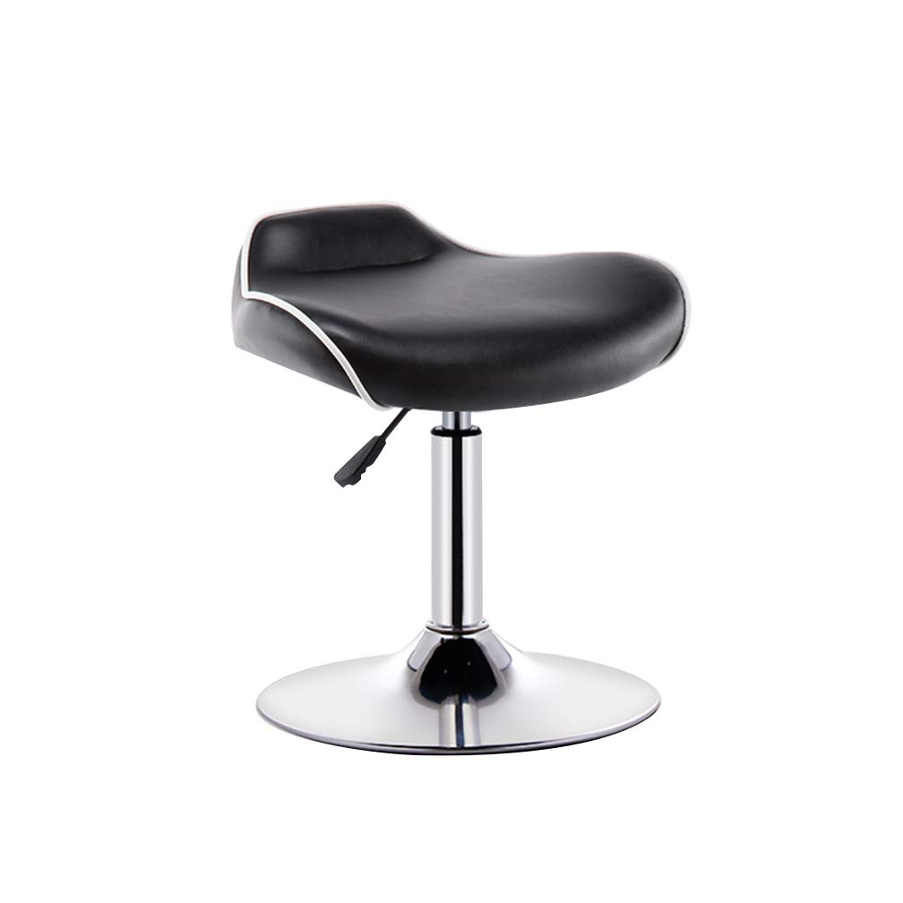 D Large Bar Chair Lift Stool Cashier Front Desk PU Leather Seat Fall Prevention Nail Makeup Stool for Coffee Shop (color   B, Size   S)