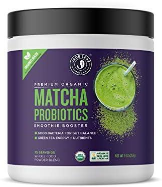 Jade Leaf Matcha Smoothie Boosters – Matcha Probiotics – 9oz 257g Canister