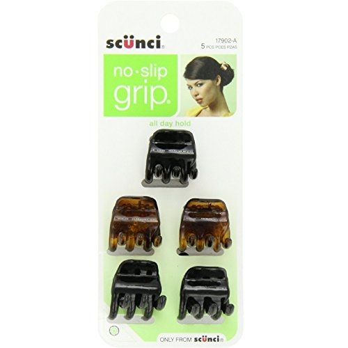Scunci 1790203a048 No Slip GripTM Chunky Jaw Clips Assorted