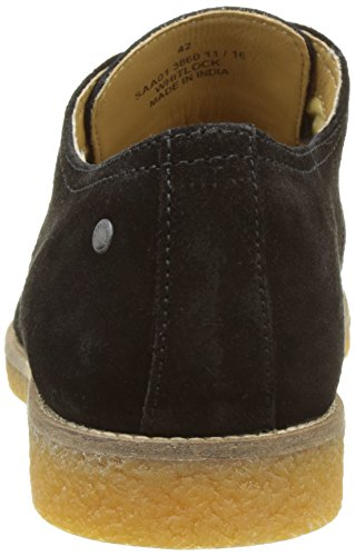 Base London Whitlock, Zapatos de Cordones Derby para Hombre Noir (Black Suede)