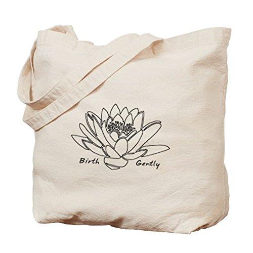 CafePress–Lotus nascita–Borsa di tela naturale, panno borsa per la spesa