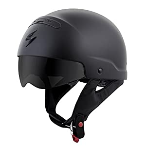 ScorpionExo Covert Unisex-Adult Half-Size-Style Matte Black Helmet (Matte Black, Large) from ScorpionExo