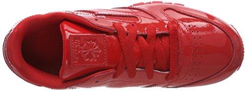 Rosso Da – Basse Reebok Unisex Bambini Ginnastica Classic Patent red Scarpe Leather aw8IFA8v