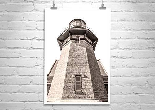 New England Lighthouse Art, Block Island South East Lighthouse Photograph ()