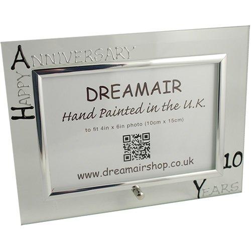 10th Year Wedding Anniversary Photo Frame (L) ( Black/Silver)
