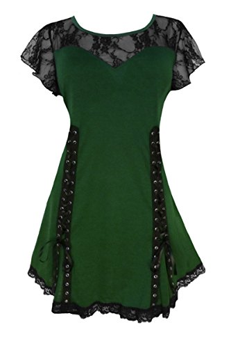 Dare To Wear Victorian Gothic Boho Women's Plus Size Roxanne Corset Top Envy 2x