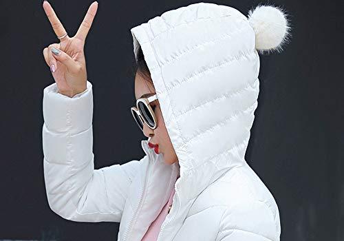 Donna Vento Bianca Prova Giubbotto Cappotti Imbottito Leggero Impermeabile Addensare Piumino A Cappuccio Giacca Giacca Piuma Basamento Elegante Di Homebaby Cotone Invernali Caldo RqXxTq1
