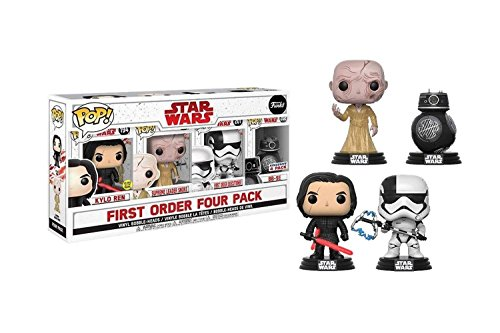 Star Wars First Order Four Pack Vinyl Bobble-Heads (Kylo Ren, Supreme Leader Snoke, First Order Executioner, BB-9E)